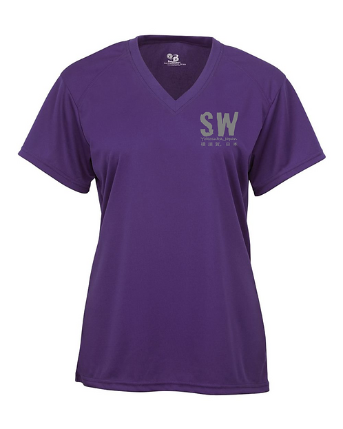 Purple Badger - B-Core Women's V-Neck Tee