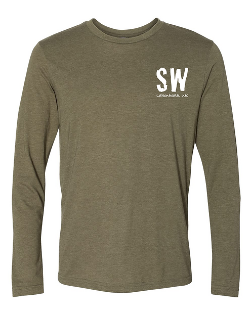 Military Green Next Level - Triblend Long Sleeve Crew