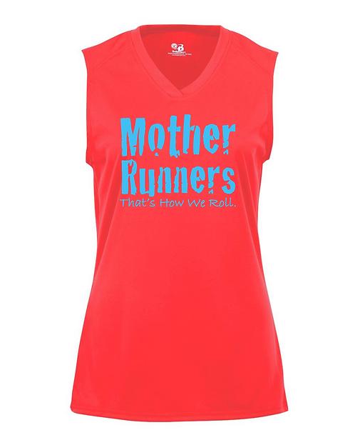 Hot Coral Badger - B-Core Women's Sleeveless T-Shirt
