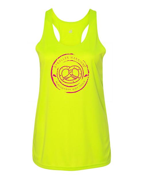 Safety Yellow B-Core Women's Racerback Tank Top