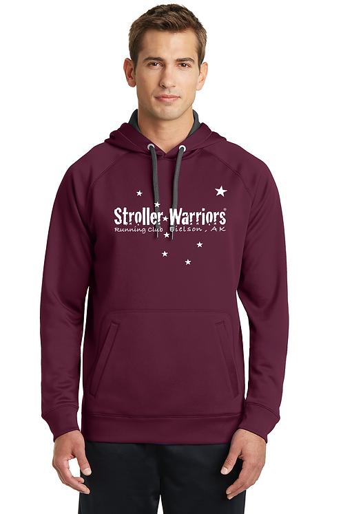 Maroon Sport-Tek® Tech Fleece Hooded Sweatshirt.