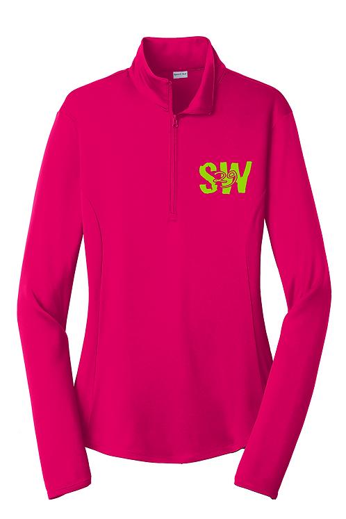 Pink Raspberry Sport-Tek® Ladies PosiCharge® Competitor™ 1/4-Zip Pullover