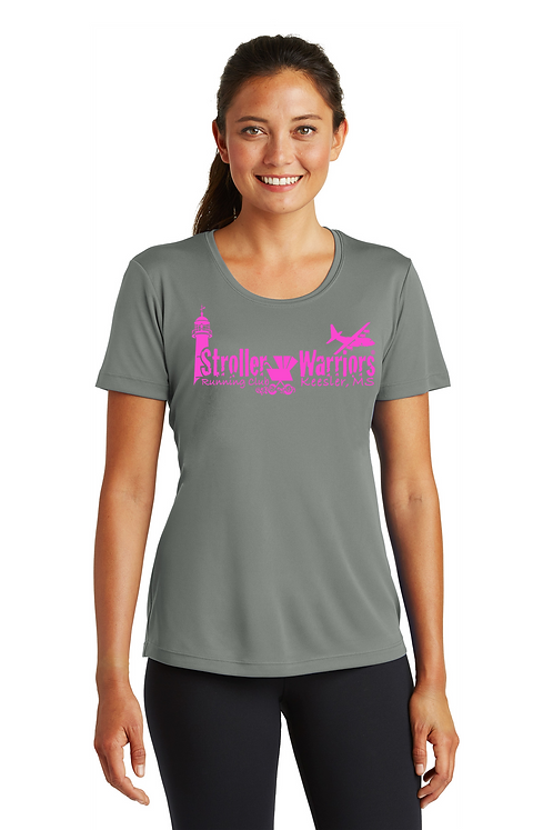Grey Concrete Ladies Sport Tek Tech PosiCharge Competitor Tee