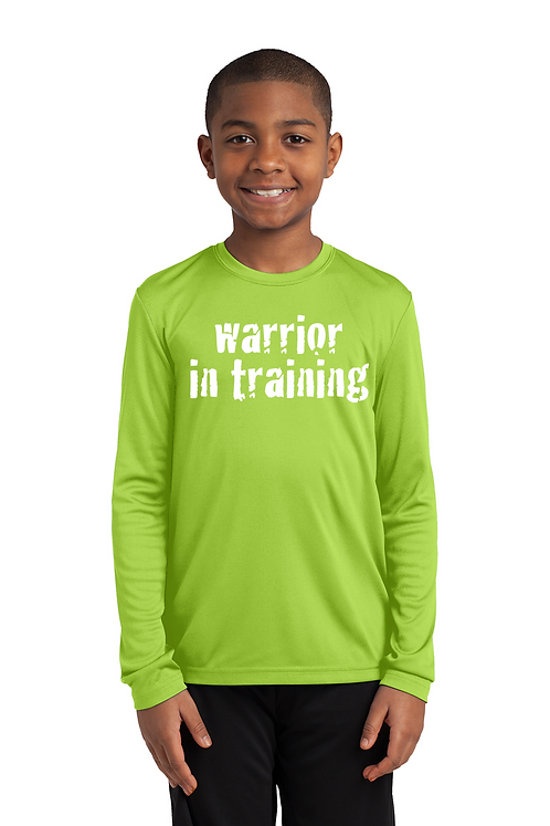 Lime Shock port-Tek® Youth Long Sleeve PosiCharge® Competitor™ Tee