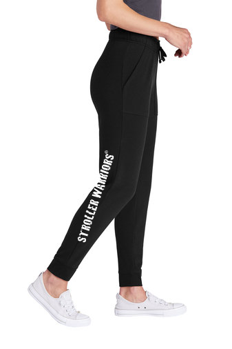 Black Sport-Tek ® Ladies PosiCharge ® Tri-Blend Wicking Fleece Jogger