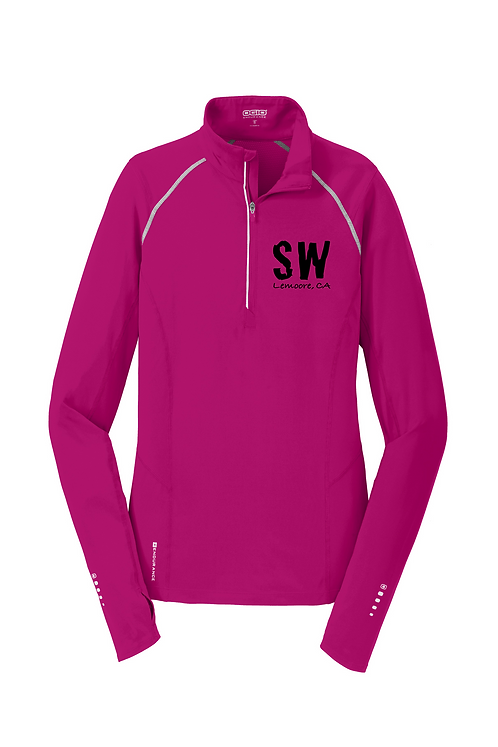 Flush Pink OGIO® ENDURANCE Ladies Nexus 1/4-Zip Pullover
