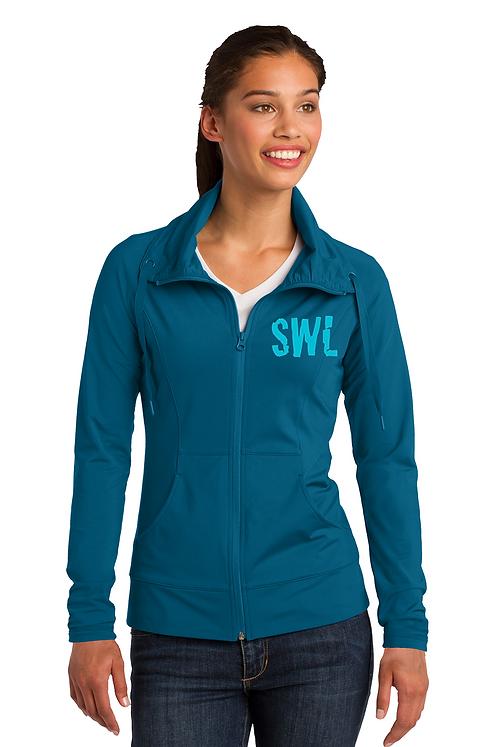 Peacock Blue Sport-Tek Ladies Sport-Wick Stretch Full-Zip Jacket
