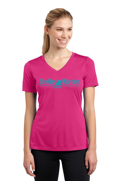 Pink Raspberry C25K Sport-Tek® Ladies PosiCharge® Competitor™ V-Neck Tee