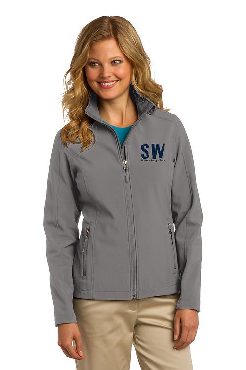 Smoke Grey Port Authority® Ladies Core Soft Shell Jacket
