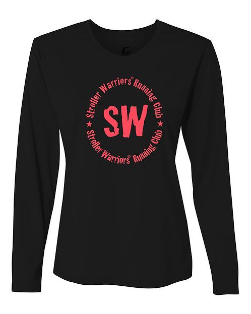 Black C2 Sport - Performance Women's Long Sleeve T-Shirt