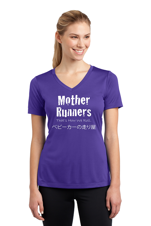 Purple Ladies Sport Tek PosiCharge Competitor Tee V Neck