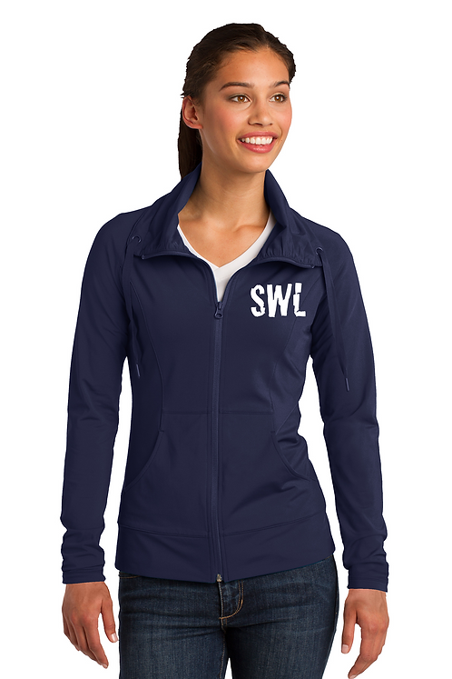 True Navy Sport-Tek Ladies Sport-Wick Stretch Full-Zip Jacket