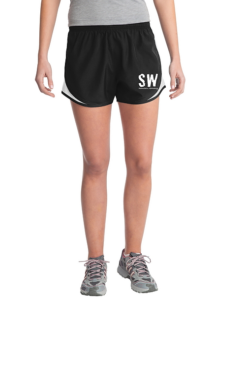 Black Sport-Tek® Ladies Cadence Short