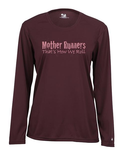 Maroon Badger - B-Core Women's Long Sleeve T-Shirt