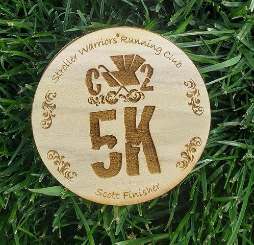C25K Wooden Medal