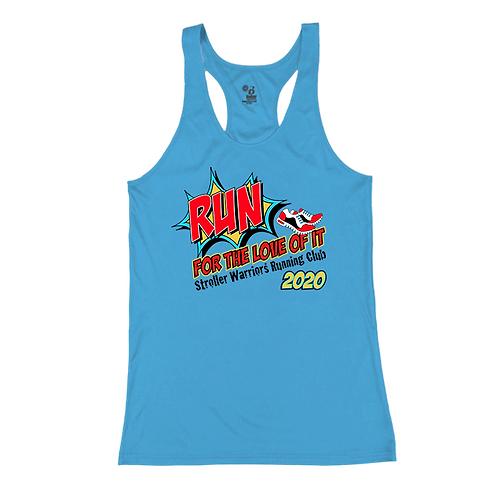 Columbia Blue Badger - B-Core Women's Racerback Tank Top