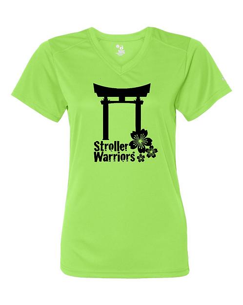 Lime Badger - B-Core Women's V-Neck Tee