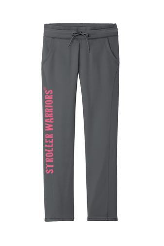 Dark Smoke Grey Sport-Tek® Ladies Sport-Wick® Fleece Pant