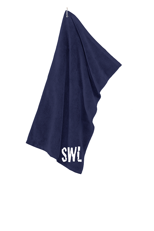True Navy Port Authority® Grommeted Microfiber Golf Towel