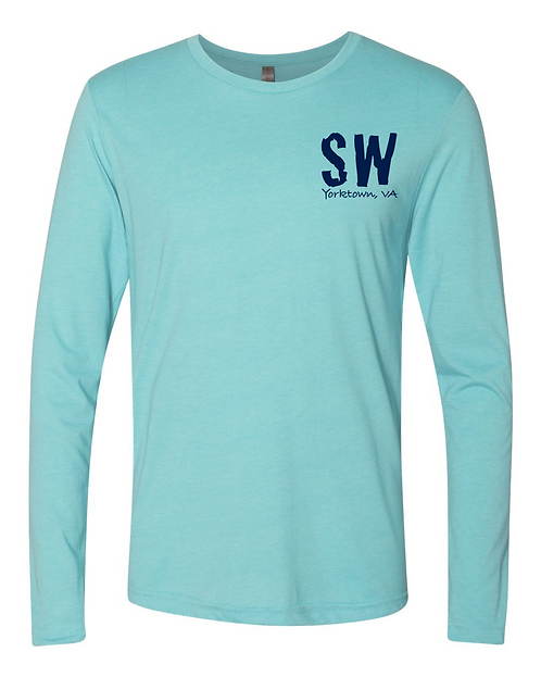Tahiti Blue Next Level - Triblend Long Sleeve Crew