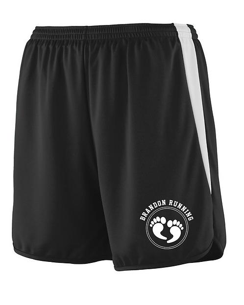 Black & White Augusta Mens Sportswear - Velocity Track Shorts