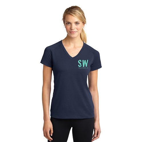True Navy Sport Tek Ultimate Performance V-Neck