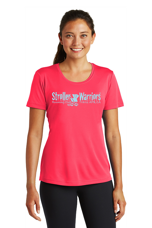 Hot Coral Ladies Sport Tek Tech PosiCharge Competitor Tee
