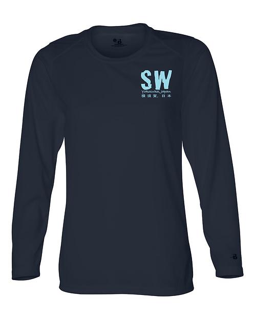 Navy blue Badger - B-Core Women's Long Sleeve T-Shirt