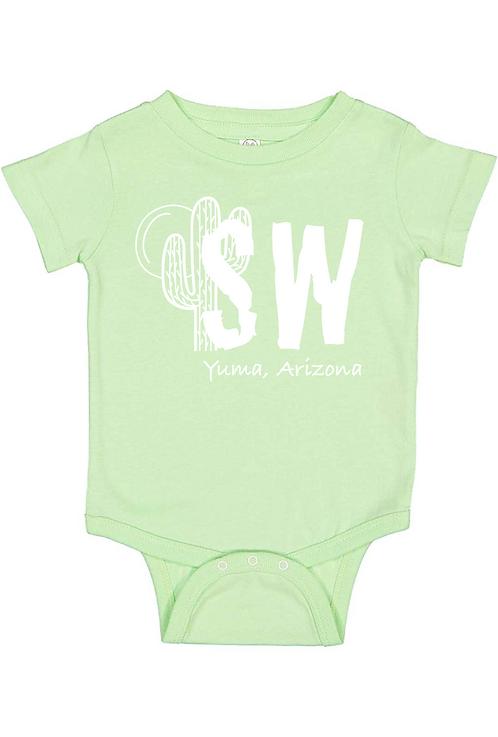 Mint Rabbit Skins™ Infant Short Sleeve Baby Rib Bodysuit