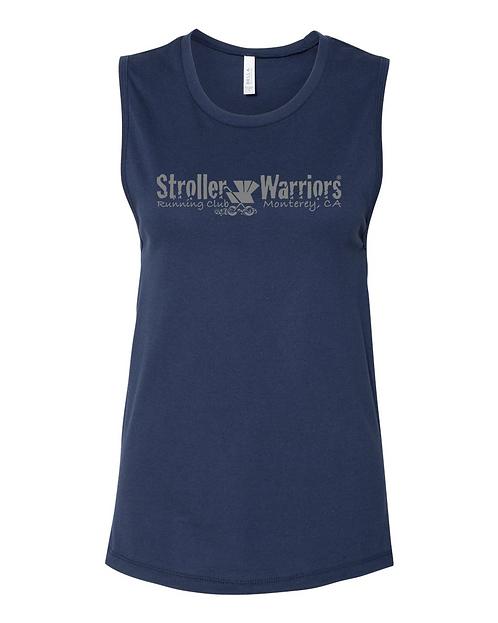 Navy BELLA + CANVAS - Women's Jersey Muscle Tank