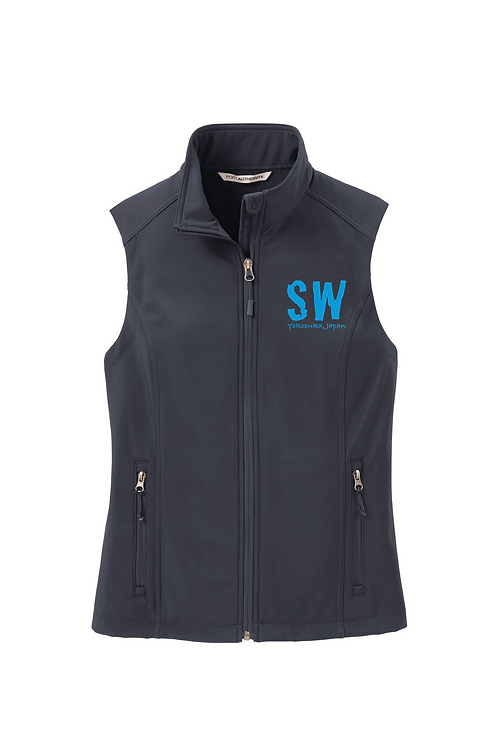 Battleship Grey Port Authority Ladies Soft Shell Vest