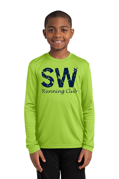Lime Shock Sport-Tek Youth Long Sleeve PosiCharge Competitor™ Tee