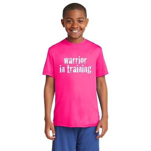Neon pink Sport-Tek® Youth PosiCharge®Competitor Tee