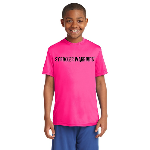 Neon pink Sport-Tek Youth PosiCharge Competitor™ Tee