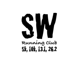 SW Running Club Distances Decal - Two sizes available - Small $6 Large $10