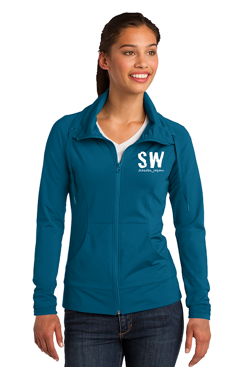Peacock Blue Sport-Tek Ladies Sport-Wick Stretch Full-Zip Jacket