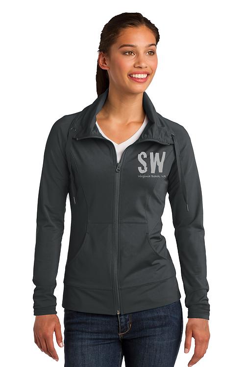 Charcoal Sport-Tek Ladies Sport-Wick Stretch Full-Zip Jacket