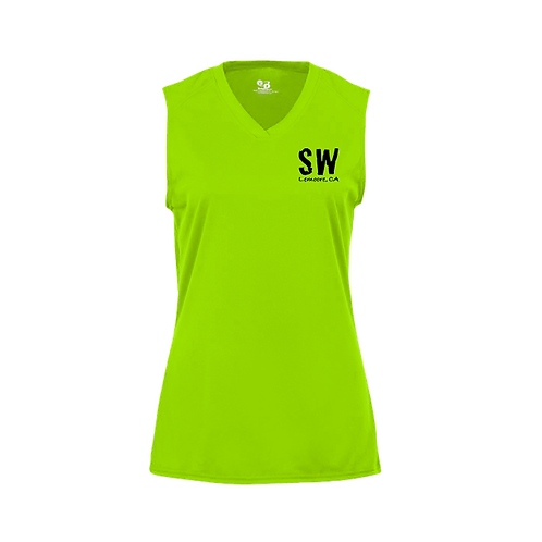 Lime Badger B-Core Women's Sleeveless Tank