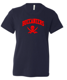 Navy Bella + Canvas - Youth Short Sleeve Crewneck Jersey Tee