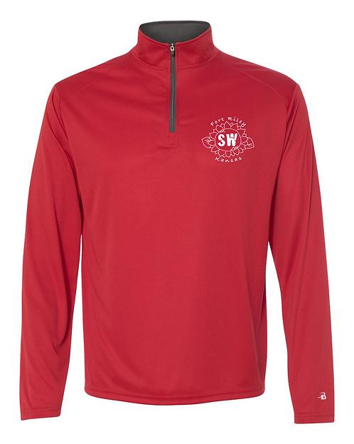 Red & Graphite Badger - B-Core Quarter-Zip Pullover
