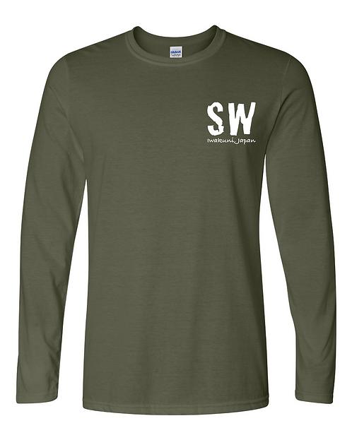Iwakuni Military Green Gildan - Softstyle® Long Sleeve T-Shirt