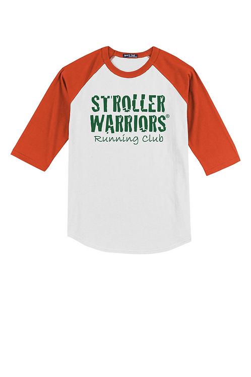Orange Sport-Tek® Youth Colorblock Raglan Jersey