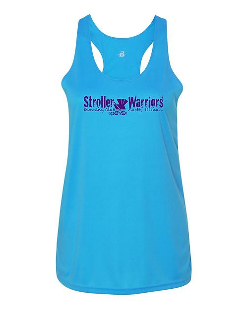 Electric Blue Badger - B-Core Women's Racerback Tank Top