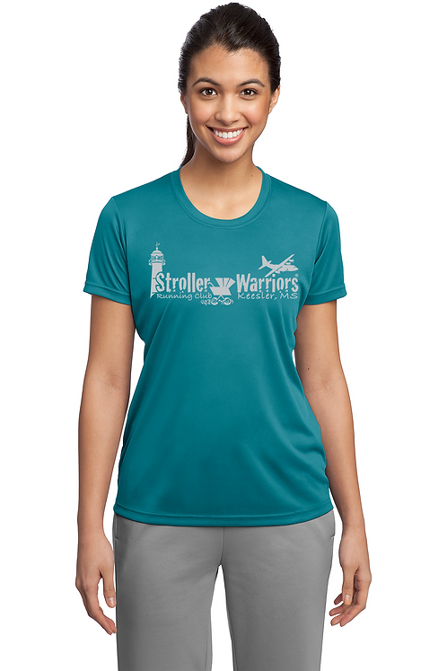 Tropic Blue Ladies Sport Tek Tech PosiCharge Competitor Tee