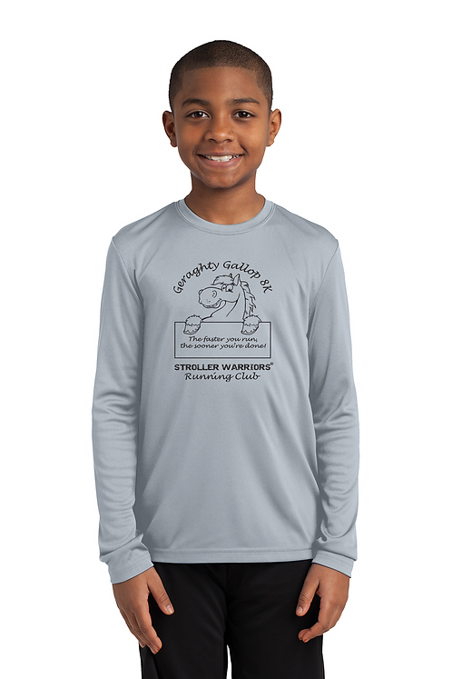Silver Sport-Tek Youth Long Sleeve PosiCharge Competitor™ Tee