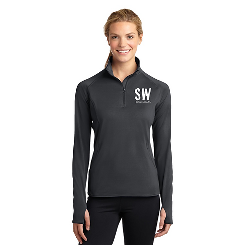 Sport Tek Ladies Sport Wick Stretch 1/4 zip pullover