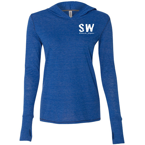 All Sport Women's Performance Triblend Long Sleeve hooded pullover