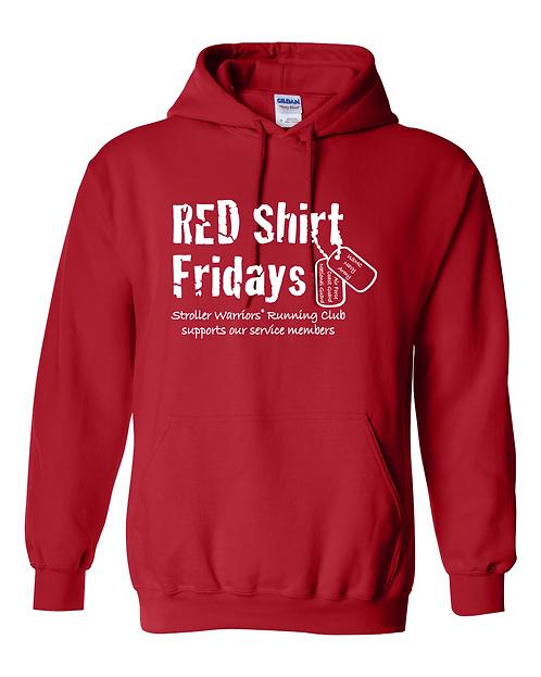 Red Gildan Heavy Blend Hooded Sweatshirt