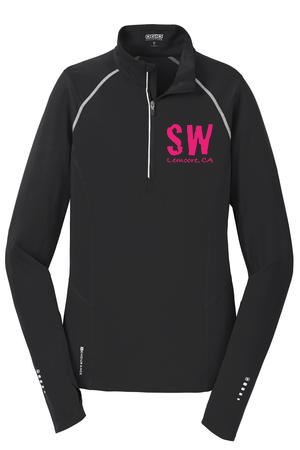 Black OGIO® ENDURANCE Ladies Nexus 1/4-Zip Pullover