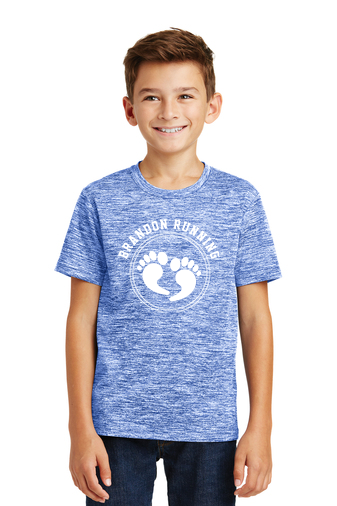 Royal Electric Sport-Tek® Youth PosiCharge® Electric Heather Tee